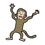 cartoon frightened monkey Royalty Free Stock Image