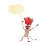 cartoon frightened monkey with speech bubble Royalty Free Stock Photos