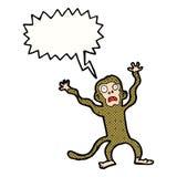 cartoon frightened monkey with speech bubble Stock Photos