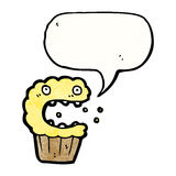 Cartoon frightened muffin Stock Images
