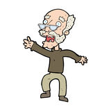 Cartoon frightened old man Royalty Free Stock Photo