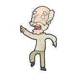 Cartoon frightened old man Royalty Free Stock Photography
