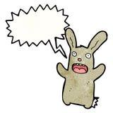 cartoon frightened rabbit Royalty Free Stock Photography