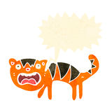 Cartoon frightened tiger Stock Image