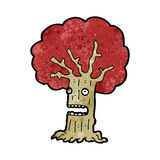 Cartoon frightened tree Stock Photos