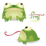 Cartoon frog Stock Photography