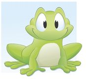 Cartoon Frog. Vector illustration of a cute cartoon frog. Grouped and layered for easy editing Stock Photos