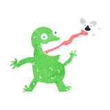 cartoon frog catching fly Royalty Free Stock Photos