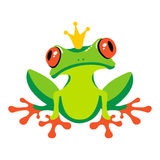 Cartoon  frog with crown Stock Photo