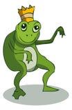 Cartoon Frog with Crown, Vector Illustration. vector illustration