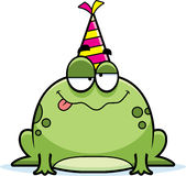 Cartoon Frog Drunk Party Stock Photography