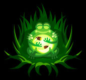 Cartoon Frog with Fireflies. A cute cartoon frog glows with fireflies in its belly Royalty Free Stock Photography