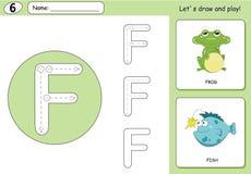 Royalty Free Stock Images Alphabet F Frog Image14853609 on Stock Illustration Cartoon Elephant Fish Alphabet Tracing Worksheet Writing