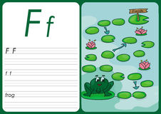 Cartoon frog game. Vector pages for children Stock Images