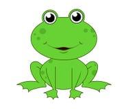 Frog. Cartoon frog  illustration isolated on white background /Mascot frog Stock Image