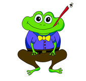 Cartoon frog. An illustration of a cartoon frog trying to catch a fly Royalty Free Stock Photo