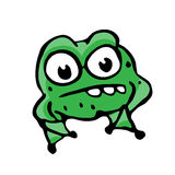 Cartoon frog Stock Photos