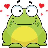 Cartoon Frog In Love Stock Image