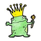 cartoon frog prince Stock Photo