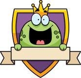 Cartoon Frog Prince Badge Royalty Free Stock Photography