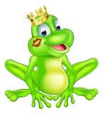 Cartoon frog prince vector illustration