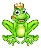 Cartoon Frog Prince Kiss Stock Image