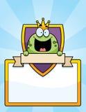 Cartoon Frog Prince Sign Stock Photos