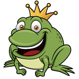 Cartoon frog prince Stock Images