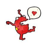 Cartoon frog singing Royalty Free Stock Photos