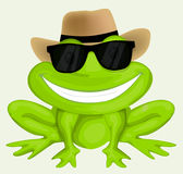 Cartoon frog in sunglasses Stock Photography