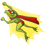 Cartoon Frog Superhero Stock Illustration