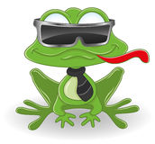 Cartoon frog. Royalty Free Stock Images