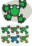 Cartoon Frogs Stock Photo