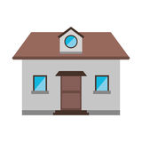 Cartoon front view home window loft. Vector illustration eps 10 Royalty Free Stock Photography