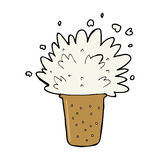 Cartoon frothy beer Royalty Free Stock Photos