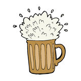 Cartoon frothy beer Stock Image