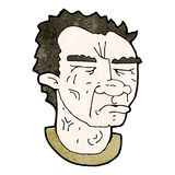 Cartoon frowning man Royalty Free Stock Photos