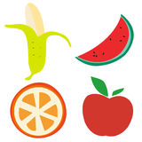Cartoon fruit Royalty Free Stock Photography