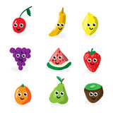 Cartoon fruit characters Royalty Free Stock Photography