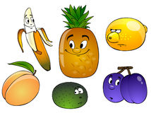 Cartoon fruit isolated Royalty Free Stock Images