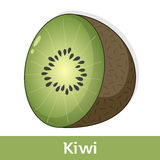 Cartoon Fruit - Kiwi or Chinese Gooseberry Royalty Free Stock Images