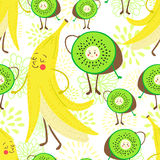 Cartoon fruit pattern Royalty Free Stock Images