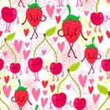 Cartoon fruit pattern Stock Photos