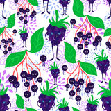 Cartoon fruit pattern Royalty Free Stock Photos