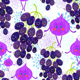 Cartoon fruit pattern Stock Photo
