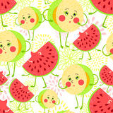 Cartoon fruit pattern Stock Photography