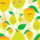 Cartoon fruit pattern Royalty Free Stock Image
