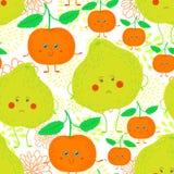 Cartoon fruit pattern Stock Images