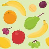 Cartoon fruit seamless pattern Royalty Free Stock Photos