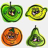 Cartoon Fruit Stock Photo